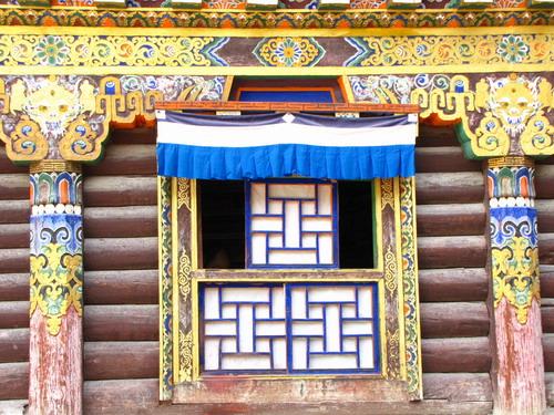 西藏门框花纹素材