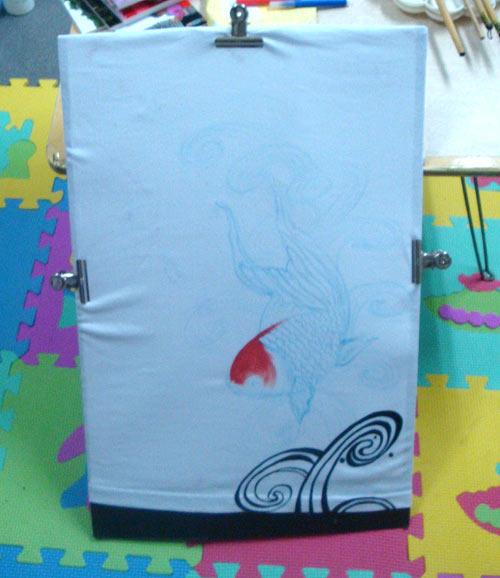 手绘t恤的制作过程