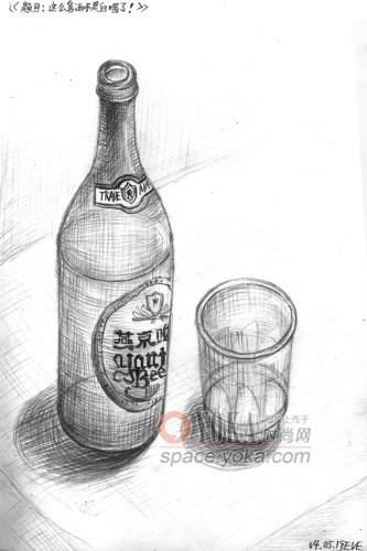 素描啤酒瓶眩彩 非我非非我作品 xfei2的时尚图片