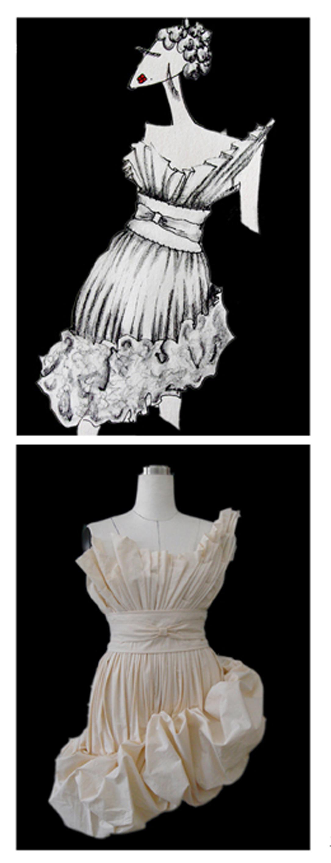 星空系列礼服设计手稿