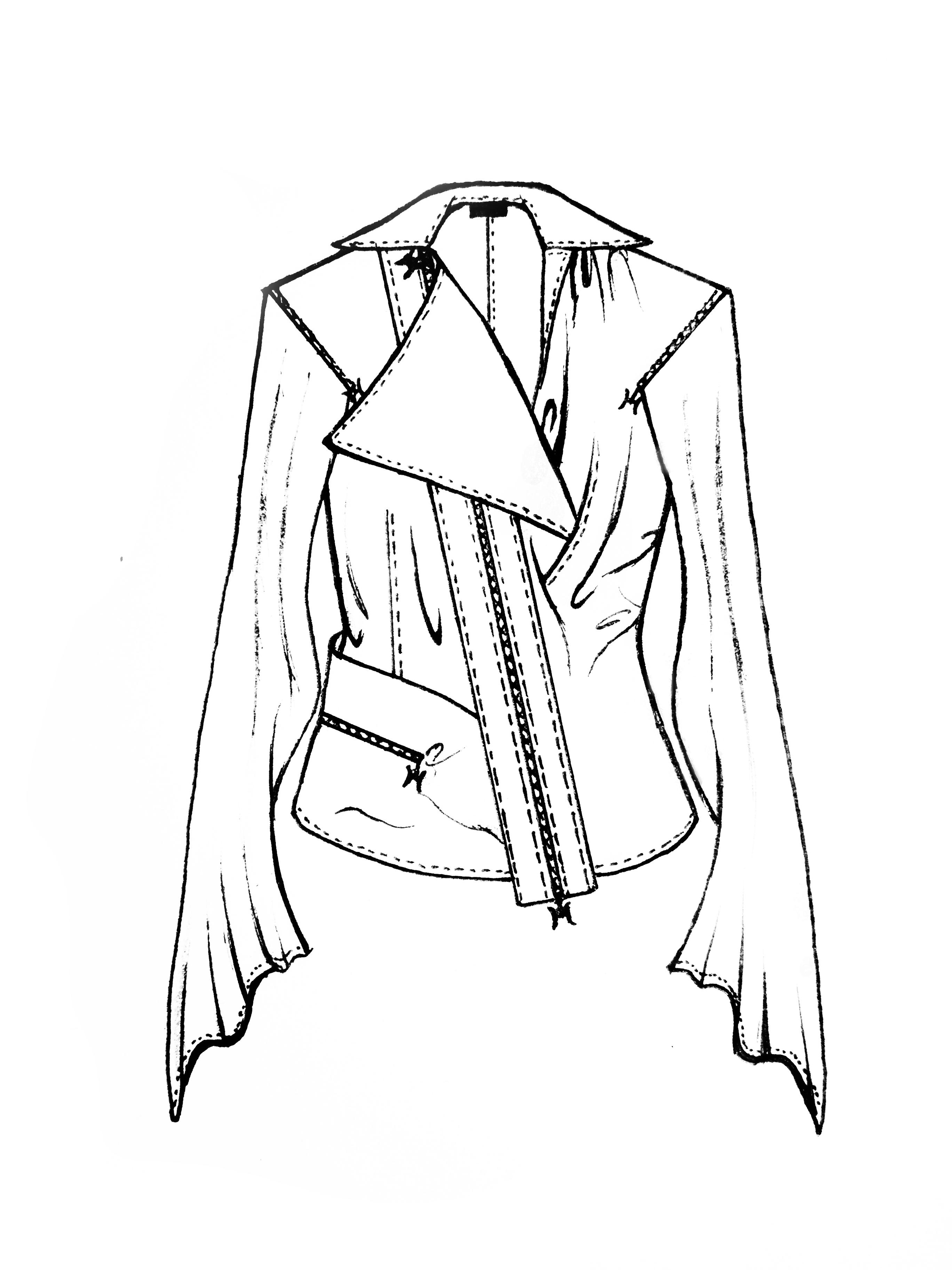 袖子款式图手绘