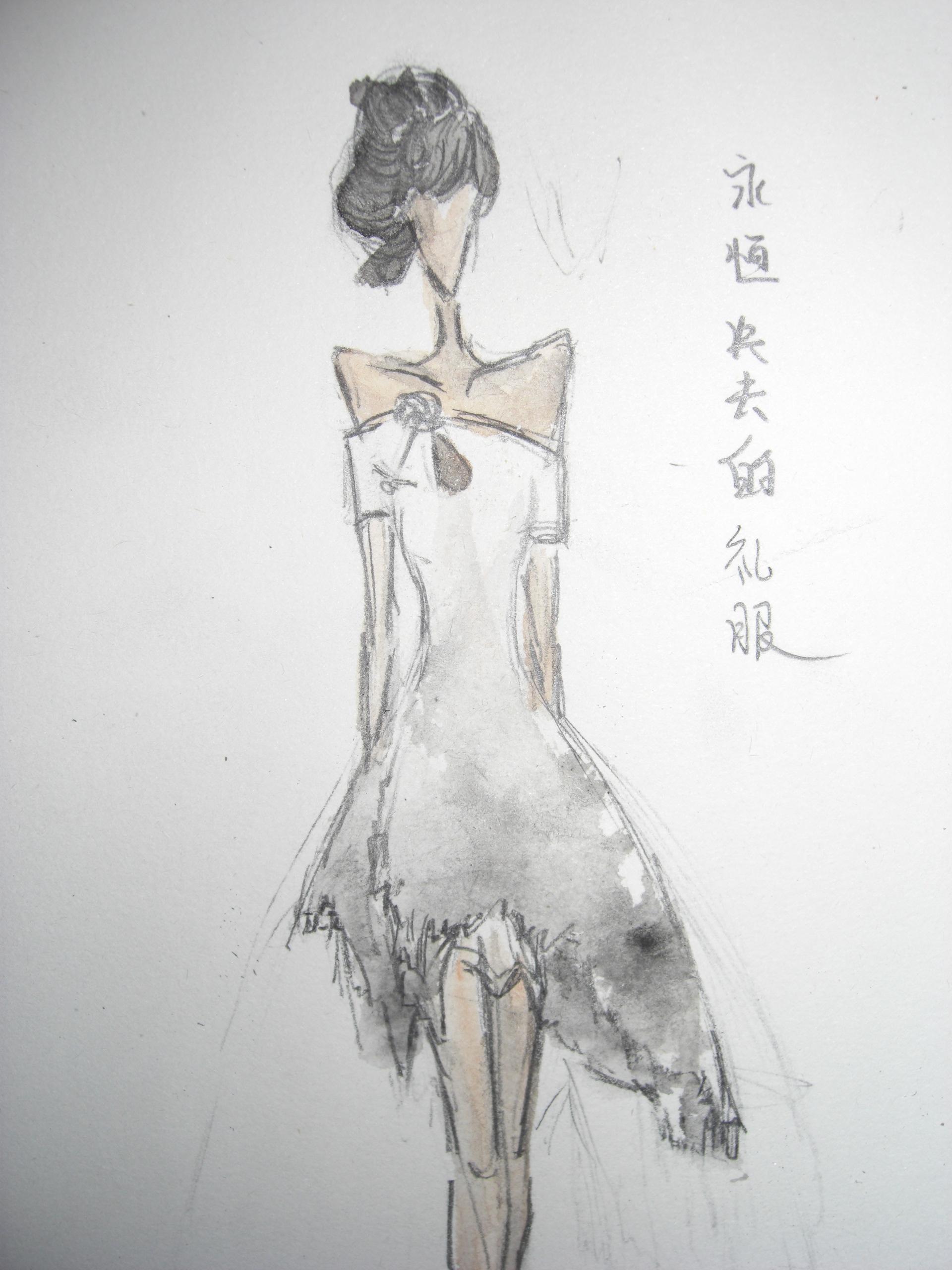 礼服素描图片步骤图片