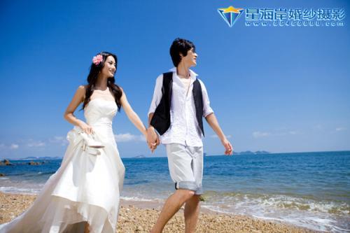 海景婚纱 星海岸婚纱摄影18 星海岸 鲁小鲁的时尚图片图片