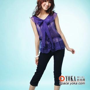 显瘦绝佳版型七分牛仔裤 yiyi 668的时尚图片 yoka时尚空间