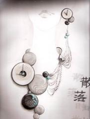中国首届校园新锐珠宝设计手稿大赛的时尚图片