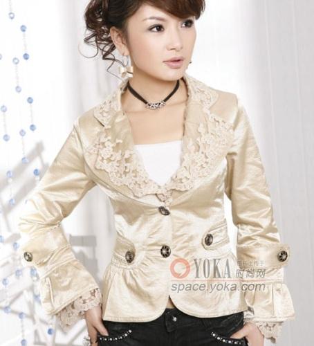 秋装OL气质修身小西服 shaibao的时尚图片 YOKA时尚空间
