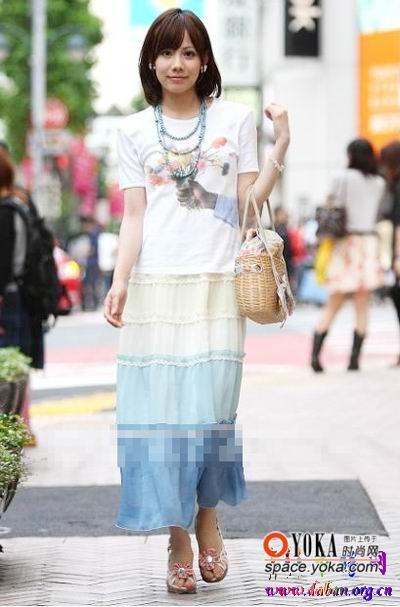 东京美女气质夏季服饰搭配图片