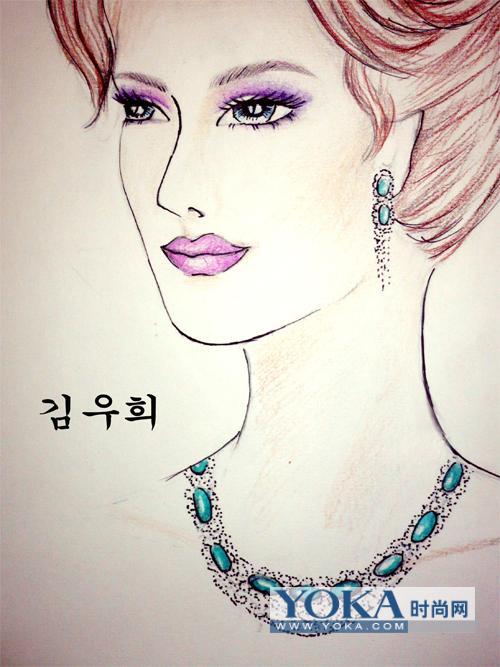珠宝设计手绘手稿图;