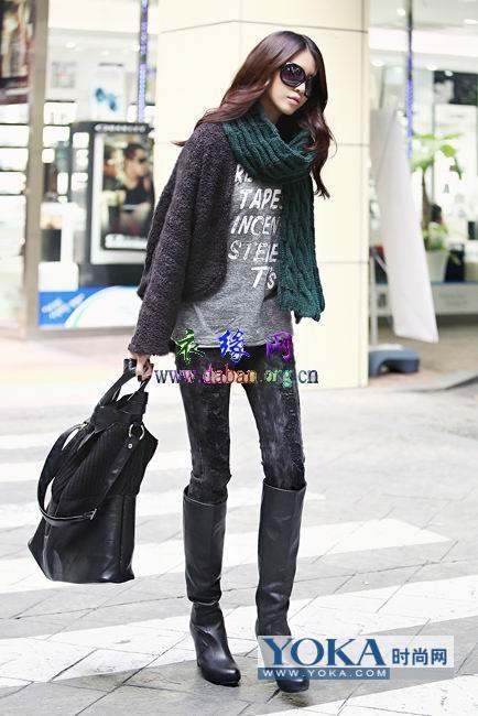 时尚女冬装搭配图片_YOKA时尚自媒体