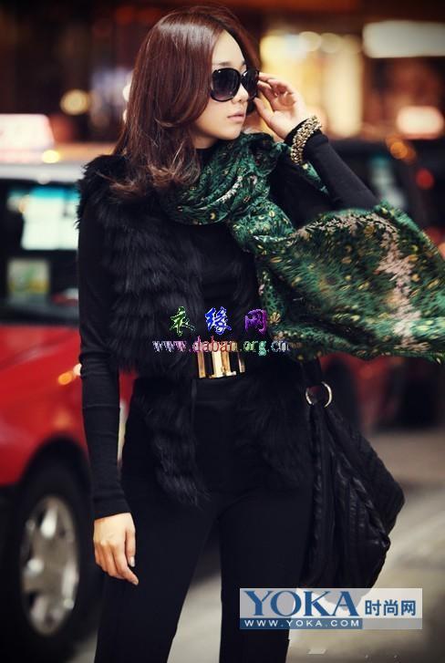 韩式高贵又优雅冬季衣服搭配