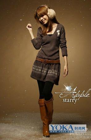 冬季女装图片-寒冬淑女的冬季女装搭配计划