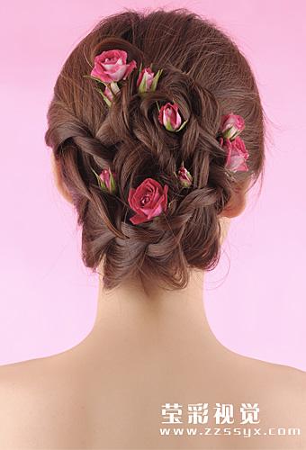 唯美新娘鲜花造型 2图片