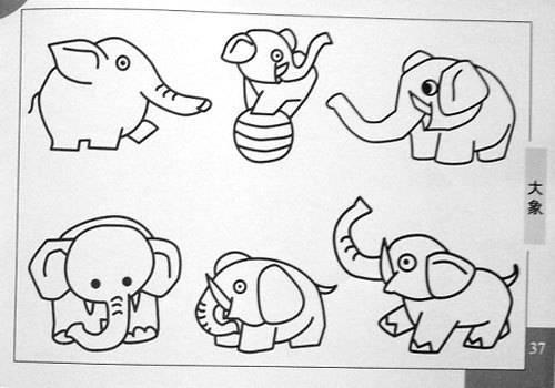 陪孩子玩的简笔画