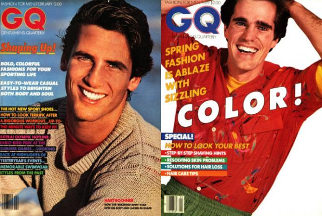 上图左:2月份,男模hart bochner;上图右:5月份,男模daivd white;均由